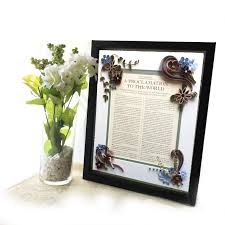 framed family proclamation embellished quilled shadowbox of the family proclamation