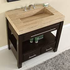 silkroad exclusive hyp 0218 36 bathroom vanity travertine counter top