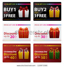 discounted gift cards for sale special gift cards buy one get stock vector 110873390