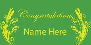 congratulation banner banner green