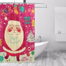 Santa Curtains Compare Prices On Santa Shower Curtains Online Shopping Buy Low
