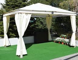 tende gazebi telo di ricambio per tende laterali per gazebo in legno bianco mod