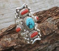 tibetan silver turquoise necklace images Tibetan jewelry turquoise jewelry coral rings tibetan bracelets jpg