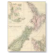 Vintage Map Vintage Map Of New Zealand 1854 Postcards From Zazzle Com