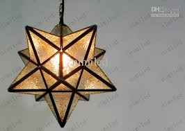 Star Light Chandelier Wholesale Nimi22 Modern Pentacle Star Shaped Crystal Glass Pendant