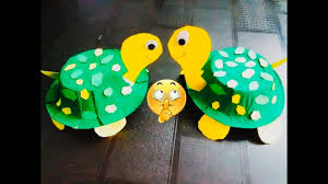 art and craft for kids how to make toy tortoise out of disposable