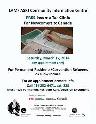 lamp ask free income tax clinic for newcomers to canada lamp