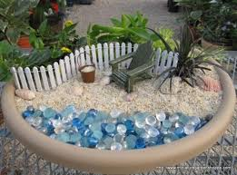 Fairy Garden Ideas by Best Gardening Ideas Mermaid And Beach Themed Fairy Garden 45