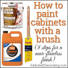 how to paint kitchen cabinets without streaks how to paint cabinets with a paint brush and get a near