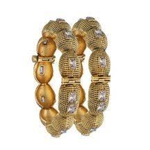 Buy Designer Gold Plated Golden Mahi Uber Chic Kada With Crystal Stones Jewellery Pinterest