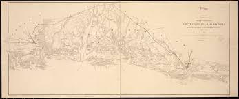 Map South Carolina Coast Sketch Of Sea Coast Of South Carolina And Georgia From Bull U0027s Bay