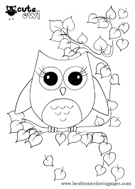 free printable owl coloring pages for kids and cute glum me