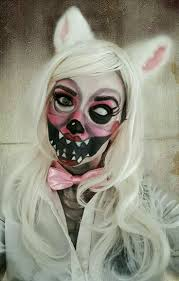 Creepy Makeup Halloween Fnaf Mangle Cosplay Makeup I Did For Halloween Halloween