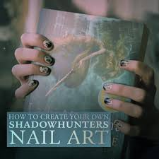 create the perfect shadowhunters manicure with this nail art