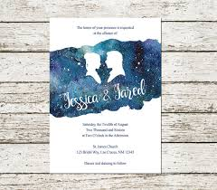 wars wedding invitations wars wedding invitation han and leia blue watercolor sci fi