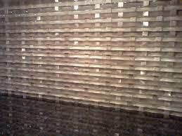 White Kitchen Glass Backsplash Budget Friendly Painted Brick Backsplash At The Everyday Home