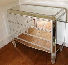 Venetian White Glass Bedroom Furniture Venetian Mirrored 2 Over 2 Drawer Chest Amazon Co Uk Kitchen U0026 Home