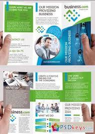 business premium tri fold psd brochure template free download