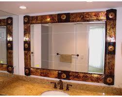copper bathroom mirrors custom copper artwork