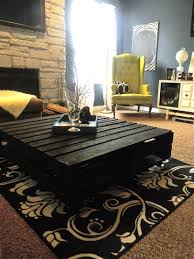 Lowes Coffee Table by Pallet Coffee Table With Black Painted Finish And Square Big Size