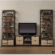 Single Bookcase American Retro Wood To Do The Old Rust Proof Iron Bookshelves Den