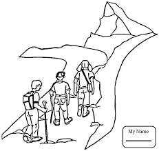 camping hiking camping activities hiking camping coloring pages