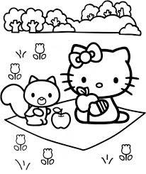 kitty larry garden coloring cartoon