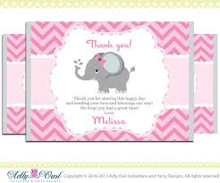elephant thank you card with personalization elephant baby