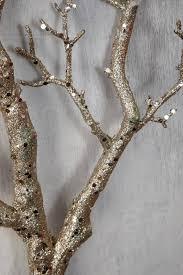 manzanita branch branch silver glitter 35in