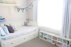 boys bedroom love the blue ikea spice rack for drink bottle and