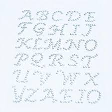 rhinestone letter stickers 3mm capital letter design rhinestone stickers 1sheet
