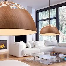 Esszimmer Couch Decken Lampe Holz Pendel Leuchte Runde Esszimmer Beleuchtung Globo