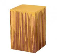 beistelltische echtholz wohnling beistelltisch vollholz akazie farbverlauf gelb