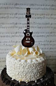 guitar cake topper electric guitar wedding birthday grooms cake cake