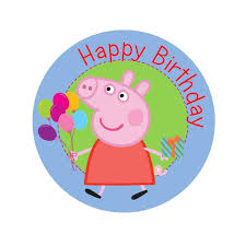 peppa pig birthday peppa pig birthday edible image shore cake supply