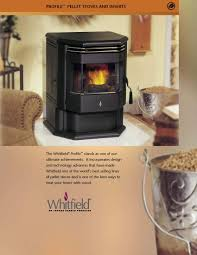 whitfield profile 20 u0026 30 pellet stove brochure freestanding