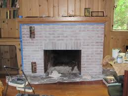 interior whitewash fireplace whitewashing brick fireplace