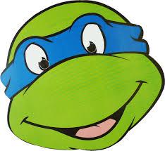 leonardo ninja turtle face coloring page