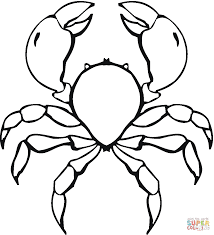 crab coloring page free printable coloring pages