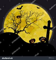 halloween trees background halloween night wallpaper with zombies and full moon stock