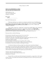 sample debt validation letter template best business template
