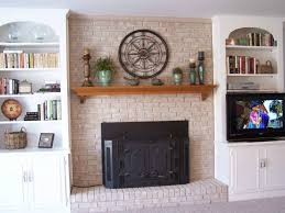 decor u0026 tips whitewash brick for brick fireplace and fireplace