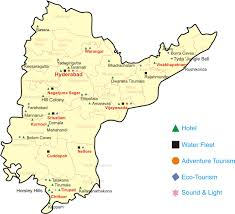 Hyderabad India Map by Andhra Pradesh Maps Districts Political Tourism Mountains Etc