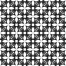 black and white geometric pattern with symbolic flowers vector