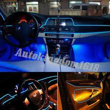 3m blue el wire car ambient light inside vehicle cold light car