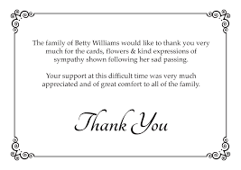 Funeral Service Announcement Wording Funeral Thank You Cards Traditional
