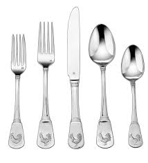 amazon com cuisinart 20 piece flatware set french rooster rooster