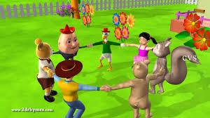 ringa ringa roses 2 animals 3d animation english nursery