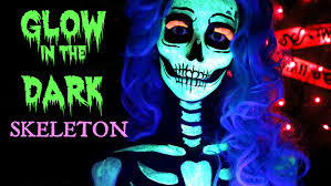 Halloween Skeleton Faces by Neon Blacklight Glow In The Dark Skeleton Halloween Makeup