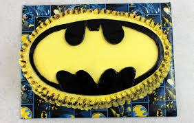 batman bat symbol cake